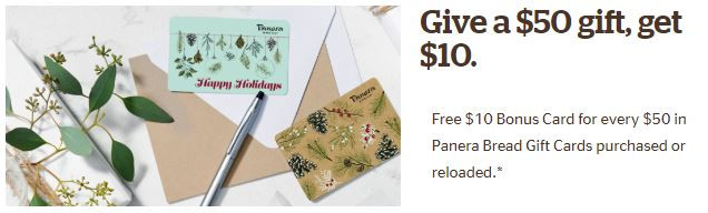 Panera Bread Holiday Gift Card Offer