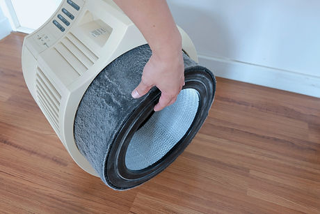 The Air purifier. Replace the filter of