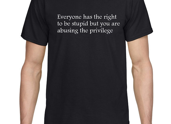 Everyone has the right to be stupid