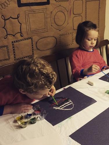 Hard at work! #craftingkiddo #crafternoo