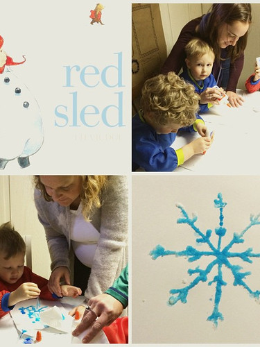Salty snowflake fun in today's #kidcraft