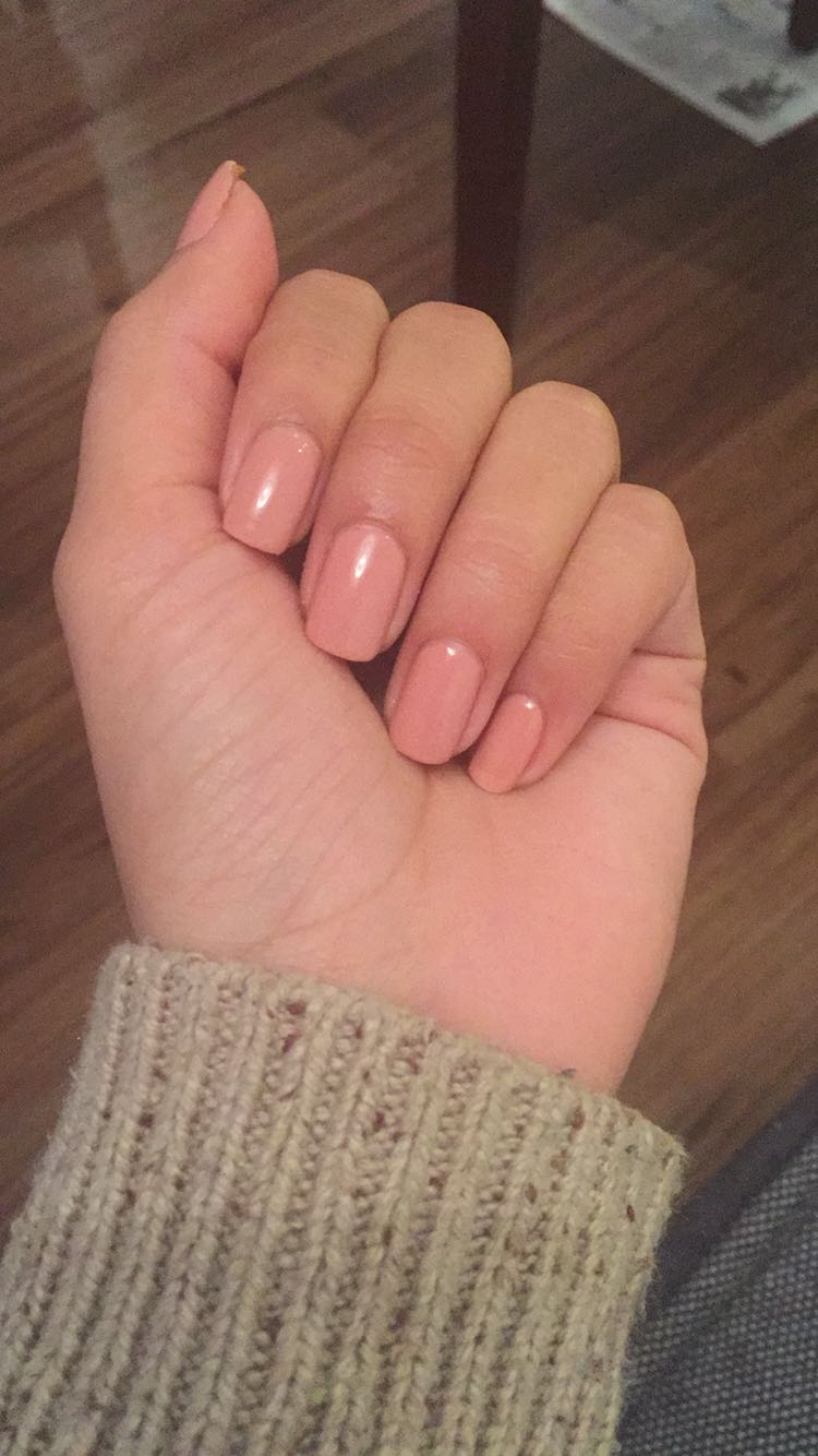 Manicure with gel polish