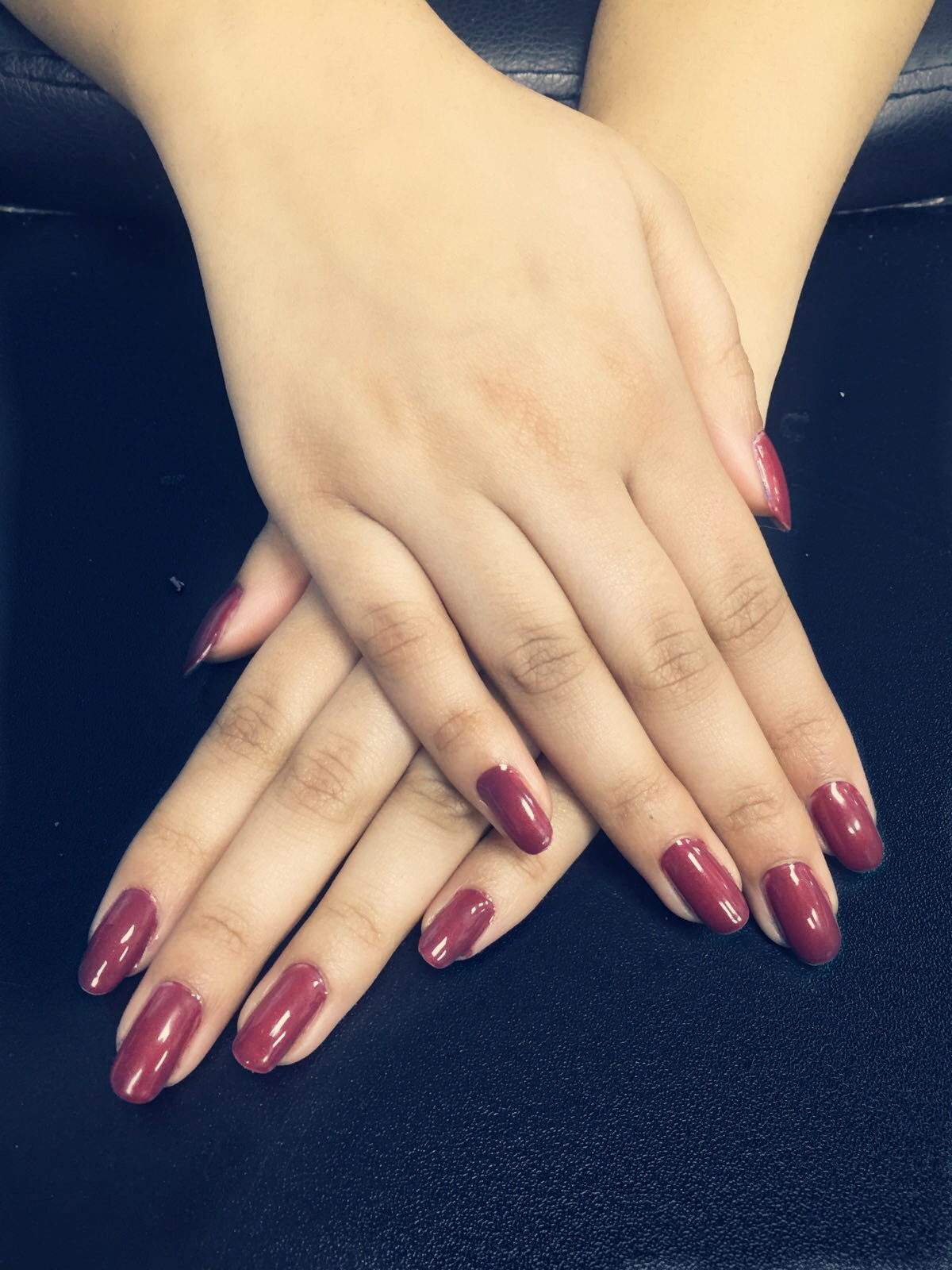 Manicure with OPI polish