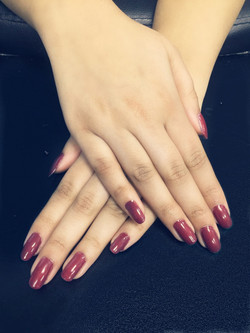 Manicure with OPI polish