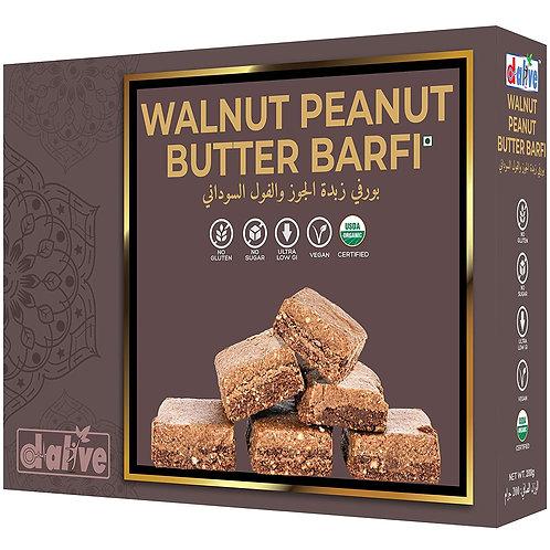 Walnut Peanut Butter Barfi