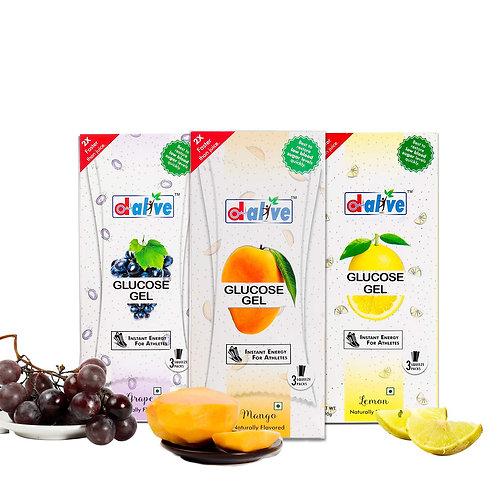 Glucose gel pack of 3