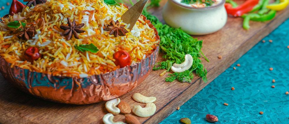 Prawns Dum Biryani ( Chef's & E.I.B Special )