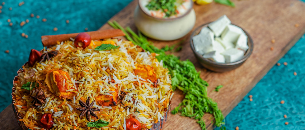 Paneer Makhani Lajawab Dum Biryani ( Chef's & E.I.B Special )