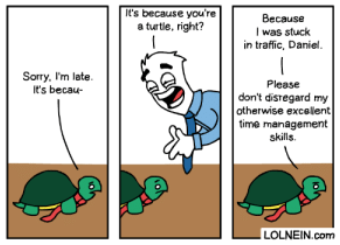 Oops, I'm late