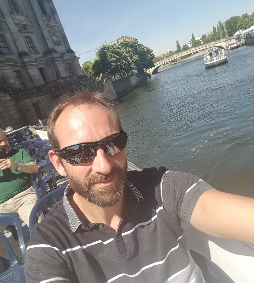 Enjoying a relaxing cruise on the Spree River