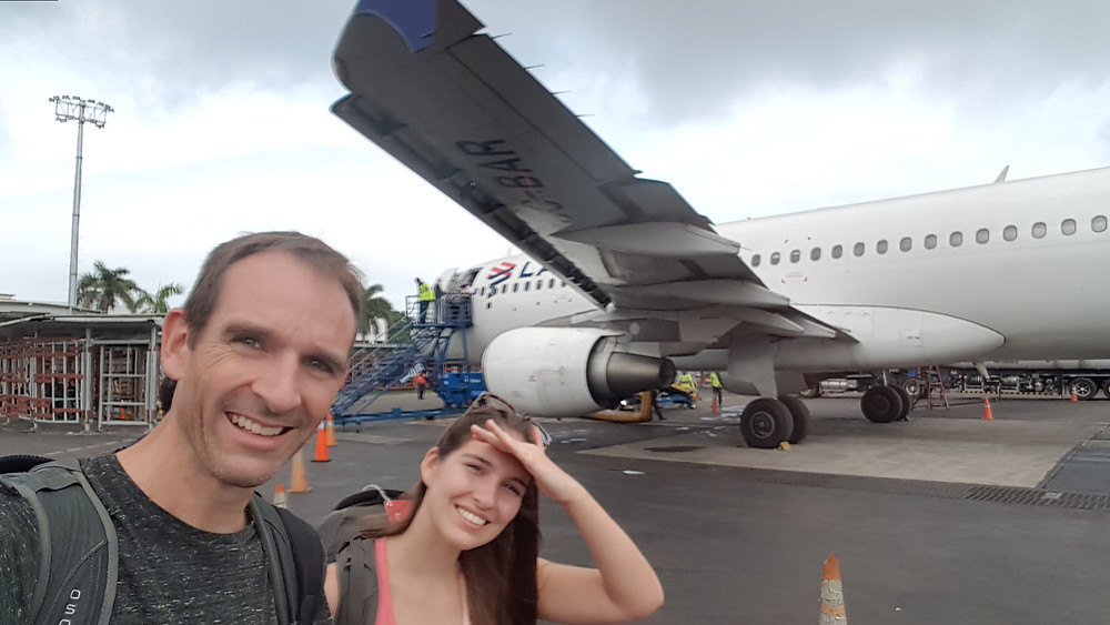 Catching the plane from Cartagena to Medellin