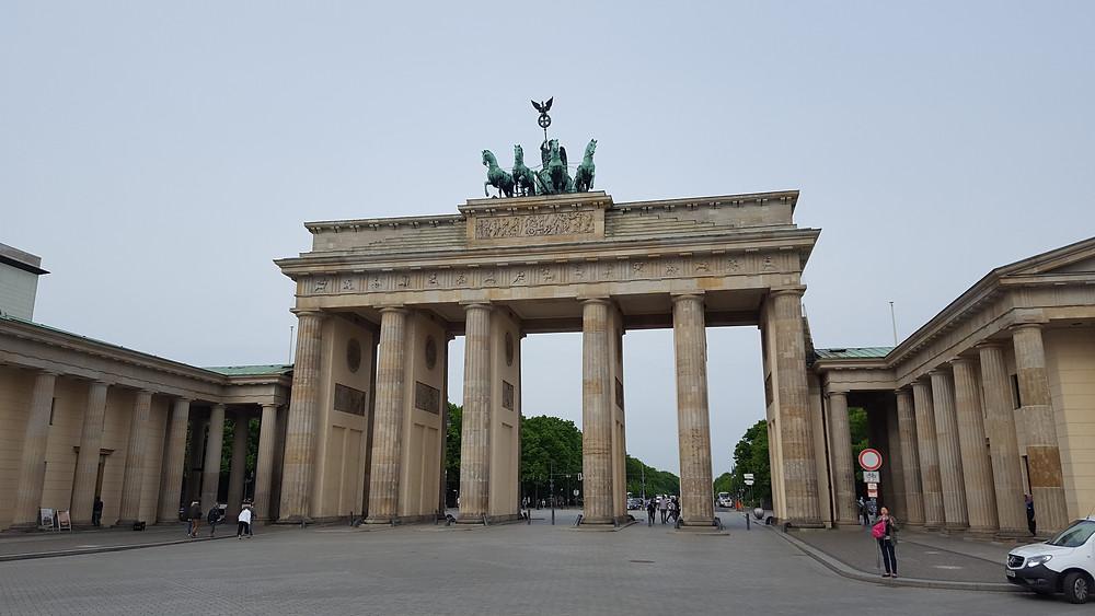 The historical Brandenburg Gate