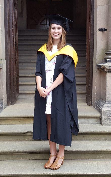 Rebecca at her recent graduation