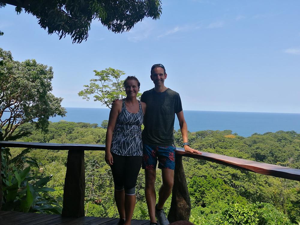 Enjoying the Caribbean breeze above the trees