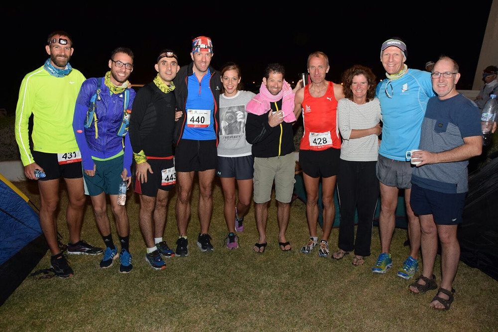 Some of the Desert Road Runners and support crew