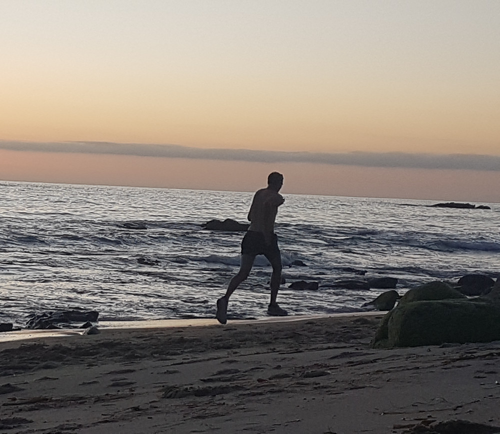Running on Laguna Beach