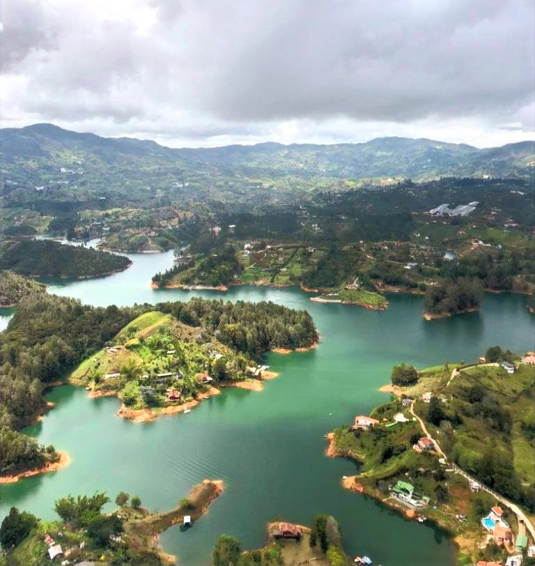 View from El Peñol rock, Guatapé