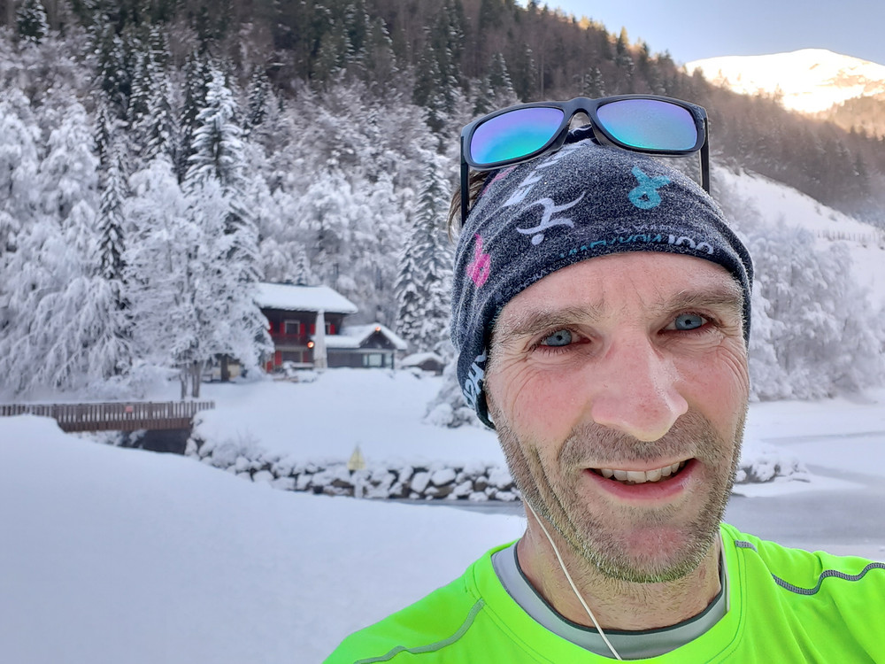 Marathon training in the snow