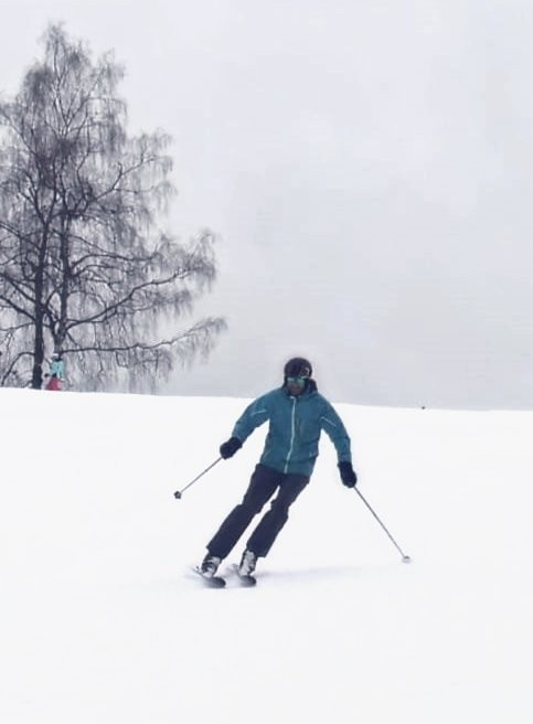 Early retirement ski lesson
