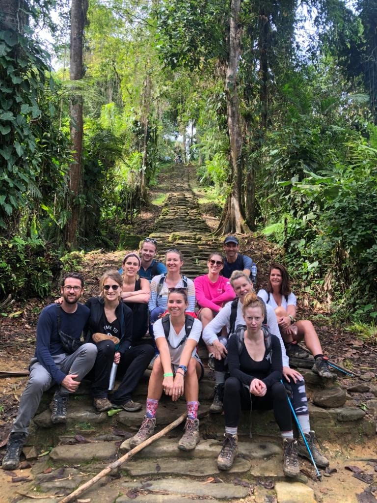 Our multi-national trekking group