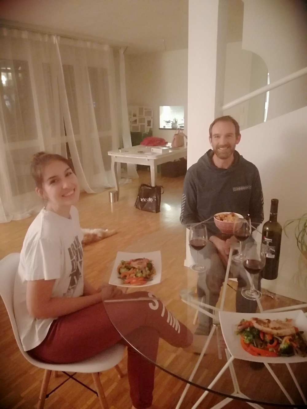 Daughter's apartment move done, time for dinner in her new home