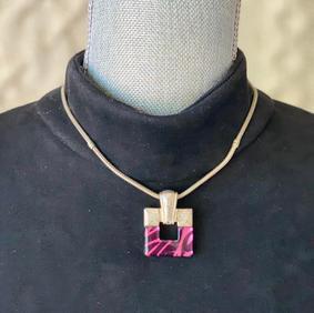 Vintage Square Emblem Necklace