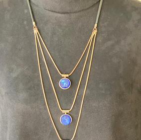 Blue Gem Drop Necklace