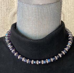 Vintage Dark Bead Necklace