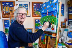 Brian Pollard at his Studio