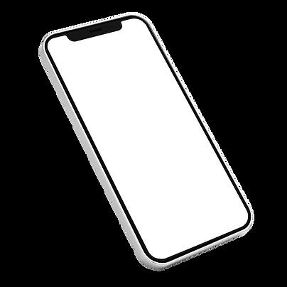 Smartphone de cor branca.