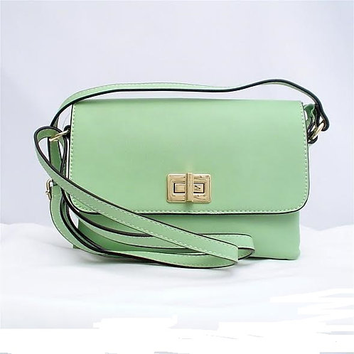 Small 3-Compartment Mint Crossbody by Tres Chic