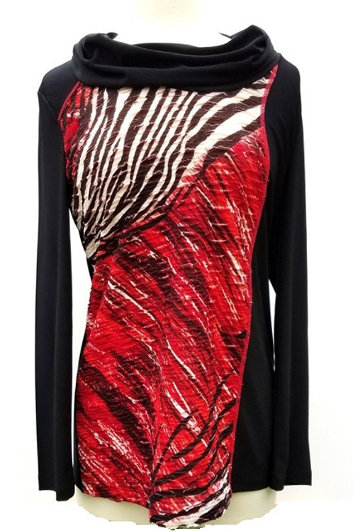Abstract Jacquard Print Top by Picadilly