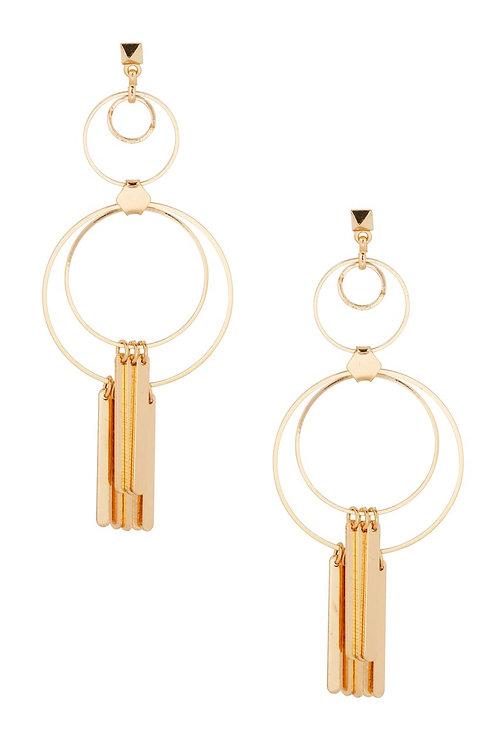 Gold Shaking & Stirred Earrings by Ettika