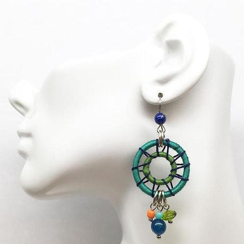 Treska Festival Collection Wrapped Wheel Earrings