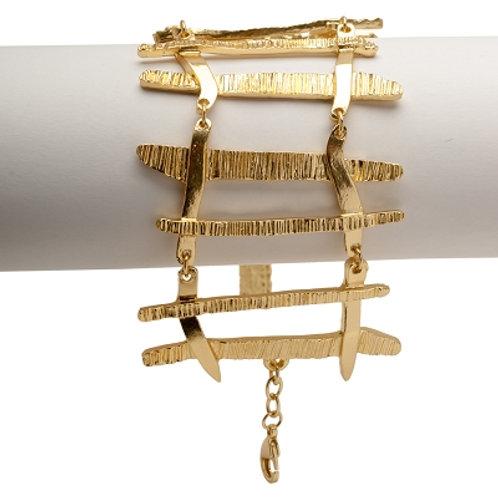 Matte Gold Edgy Spike Bracelet by Karine Sultan