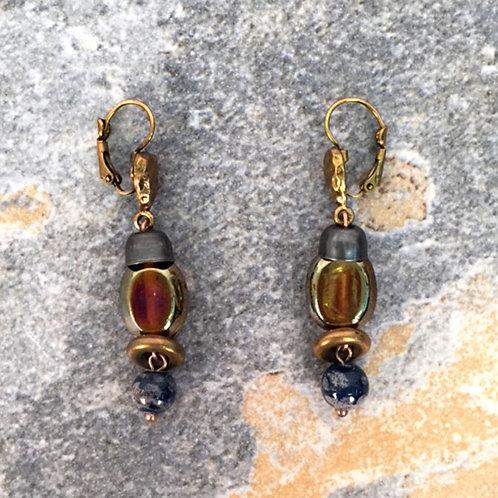 Uluru Linear Drop Earrings by Treska