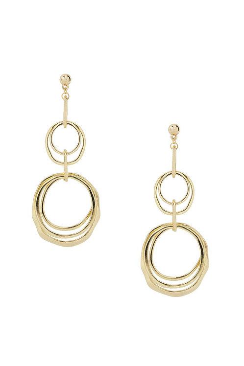 Harley Hoops Multi-Hoop Earrings in Gold by Ettika