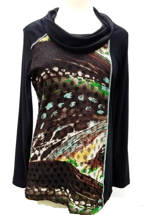 Abstract Lace Print Top by Picadilly