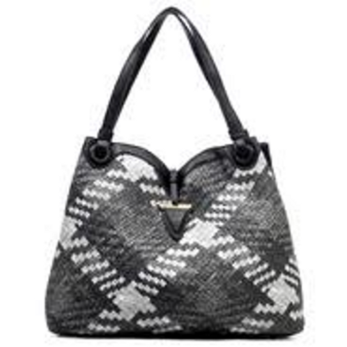 Large Woven Leather Tote/Satchel by Fiore