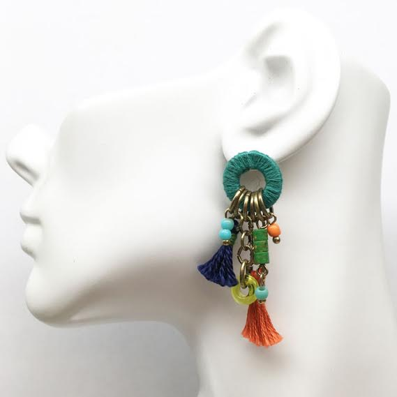 Treska Festival Drop Tassel Earrings