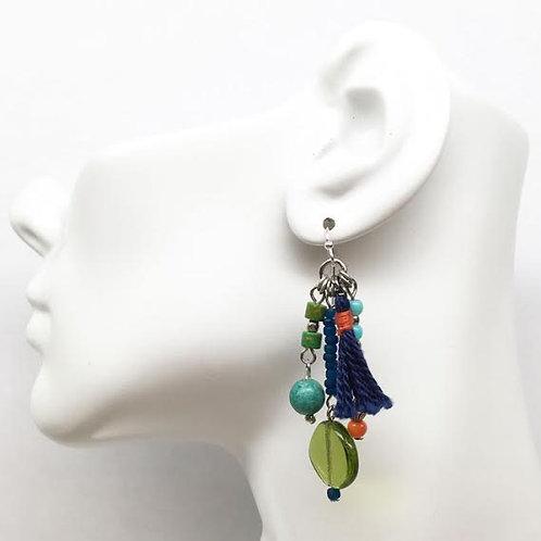 Treska Festival Collection Beaded Drop Earrings
