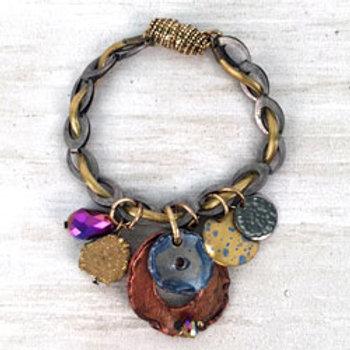 Nebula Trinkets on Chain Bracelet by Treska