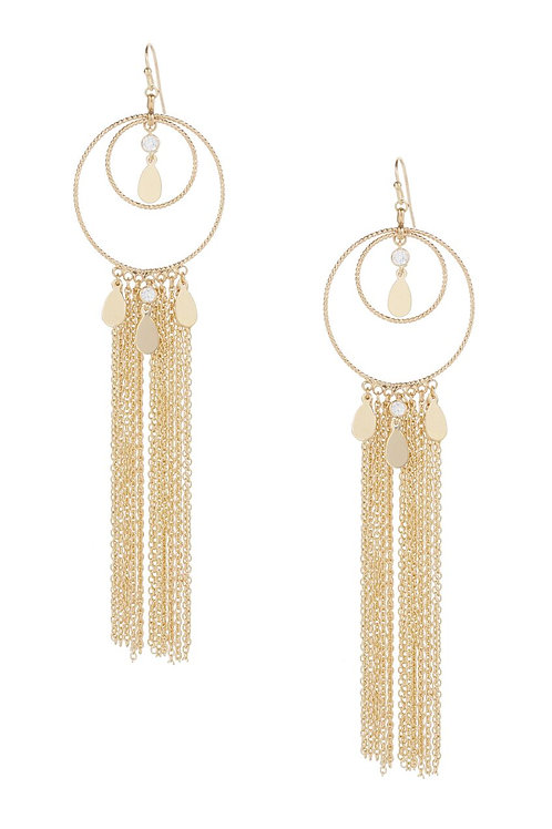 Ettika Carissa Gold Hoop & Multi-Strand Earrings