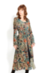 Gorgeous long sleeve, paisley psemi-sheer dress/duster by Adore!
