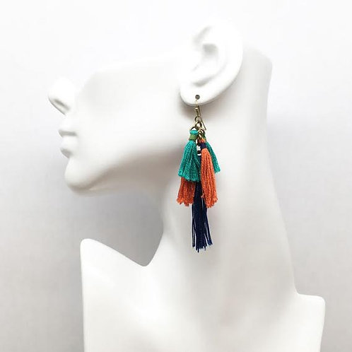Treska Festival Collection Multi-Tassel Earrings