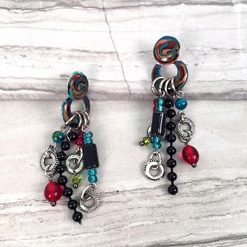 Gallery Collection Multi-Dangle Earrings by Treska