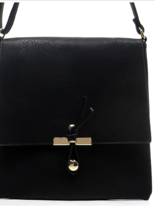 Black Leather Crossbody/Shoulder Bag by Fiore