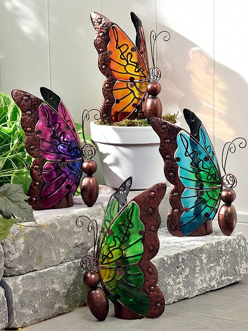 Nature's Conservatory Butterfly Design Solar Lighted Decor