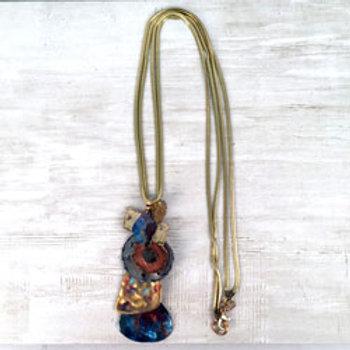Nebula Long Stacked Pendants Necklace by Treska