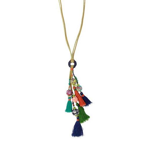 Treska Festival Collection Multi-Tassel Pendant Necklace